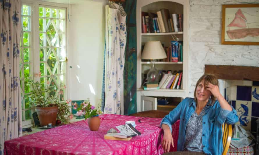 Poet Alice Oswald at her home in south Devon.