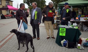 Campaigning in Witney in the byelection campaign.