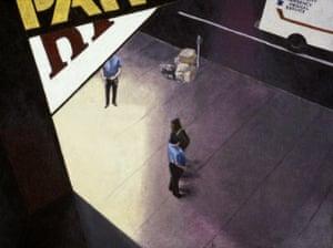 Emergency Service, 1982, acrylic on vinyl