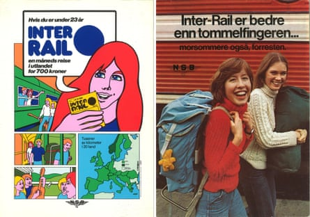 Classic tracks … old Norwegian Interrail posters