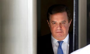 Former Trump campaign manager Paul Manafort leaves US district court in Washington in February.