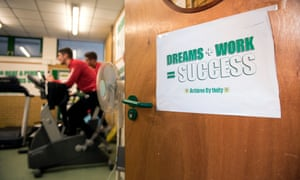 A message on the gym door at Yeovil.