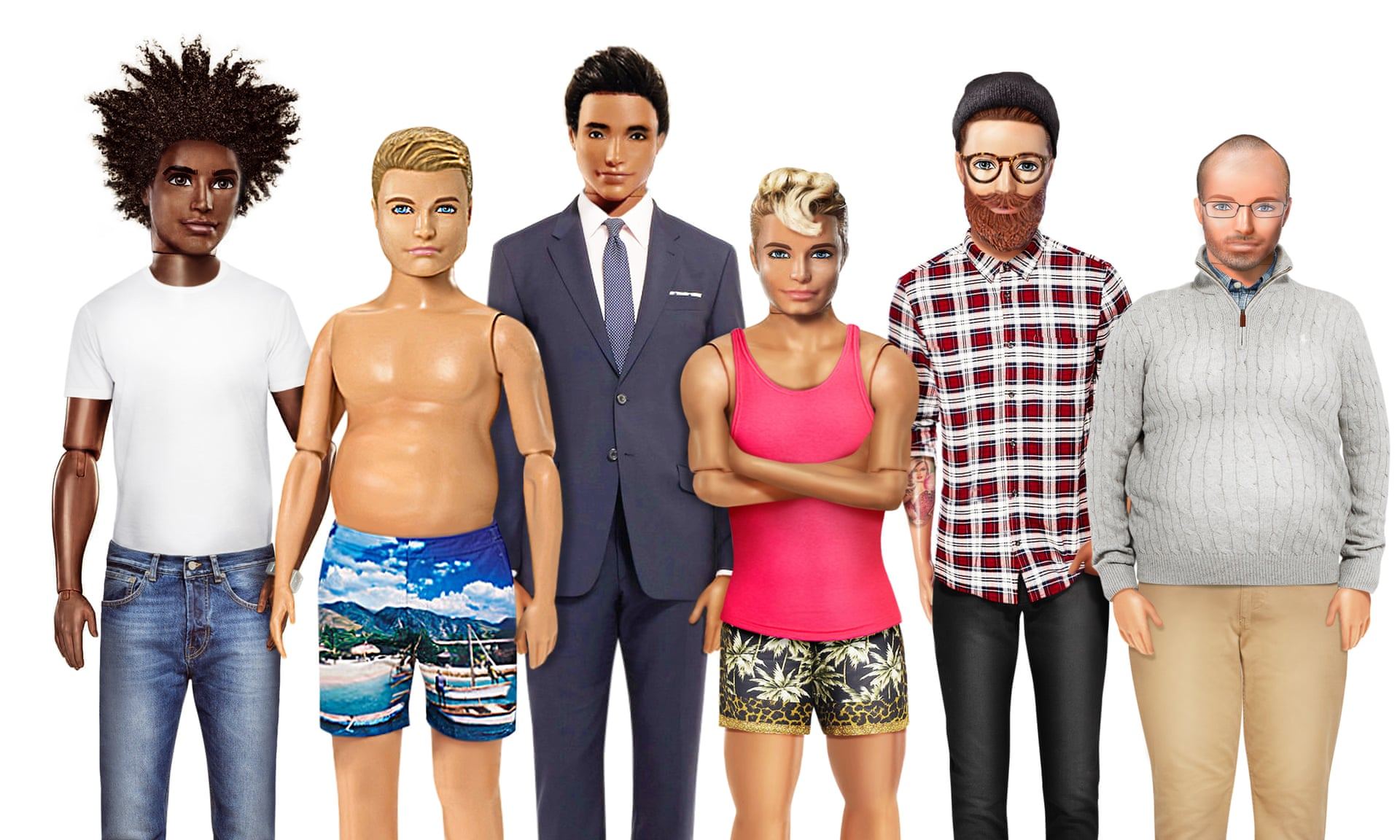 b20cfee169 The line also includes dolls of various heights, skin tones and hair  textures, so if you've ever dreamt of a petite muscular Ken or Ken with an  afro, ...
