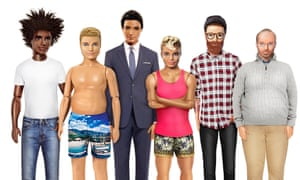 The Ken doll reimagined by Lyst.