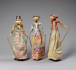 Marionettes from the Wayang Golek theatre style, Indonesia.