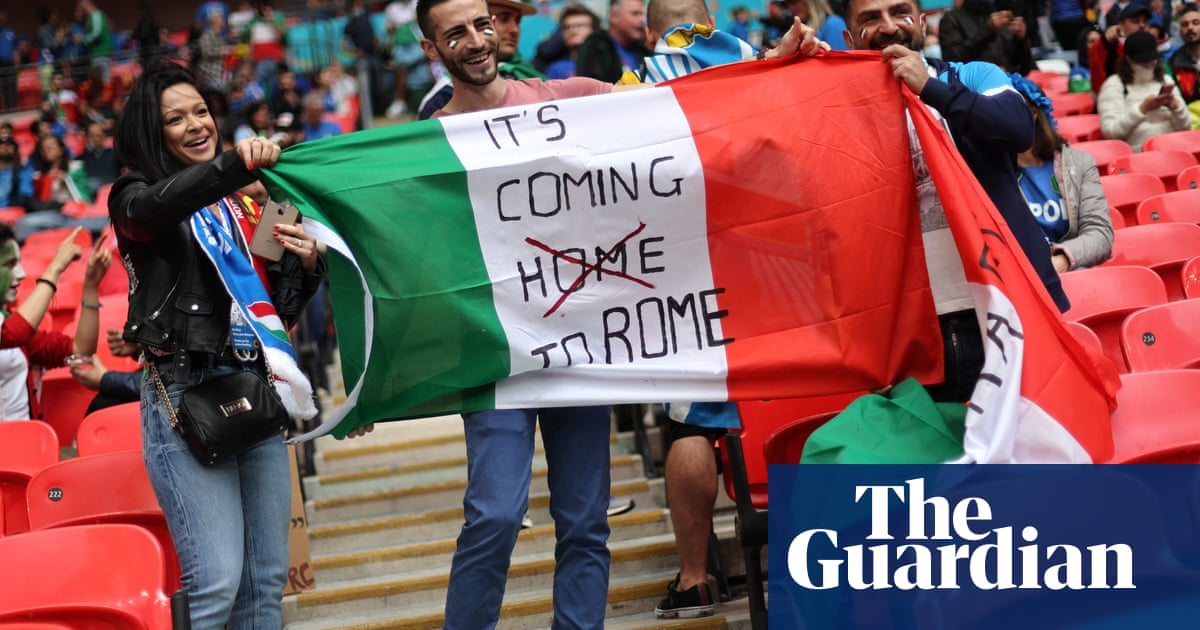 Football's coming to Rome? Italy fans look to Wembley showdown