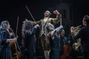 'How many geniuses have disappeared because they weren't supported?' ... Msamati as Salieri in Amadeus.
