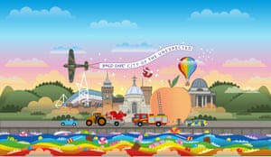Scrumdiddlyumptious fun … a poster image for Roald Dahl's City of the Unexpected