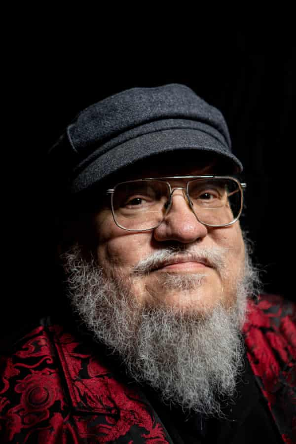 George RR Martin, photographed at his hotel in London