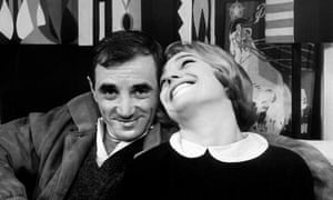 Charles Aznavour with Nicole Berger in Truffaut's Shoot the Piano Player
