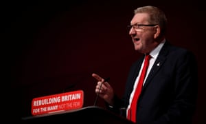 Len McCluskey speaking at the Labour conference on Monda.