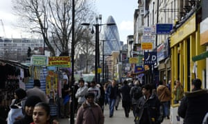 Whitechapel Road in London illustrates the rapid pace of social change.