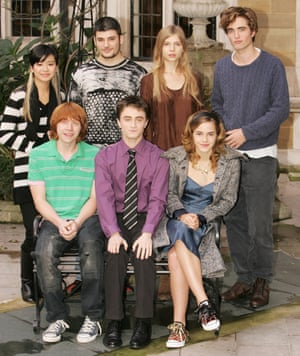 Magic touch: with Harry Potter and the Goblet of Fire co-stars.