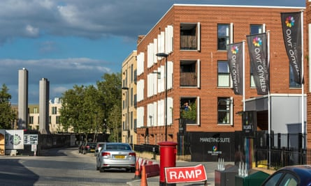 Some of the new houses built as a part of the redevelopment of Myatts Field North estate in Lambeth.
