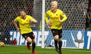 Will Hughes gave Watford the lead with his first goal for the club following his summer move from Derby County