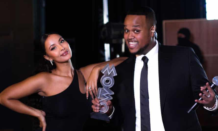 Maya Jama and Chunkz at the 2020 Mobo awards.