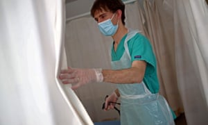 Junior doctor wearing PPE