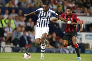 Semi Ajayi in action for West Brom against Bournemouth in a pre-season friendly.