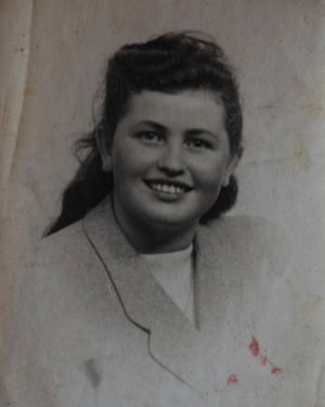Edith Gluck, in 1947, Dublin after she escaped Auschwitz
