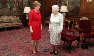 Nicola Sturgeon meeting the Queen in 2017