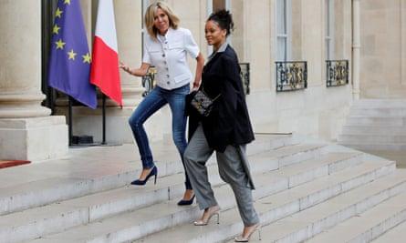 Brigitte Macron welcomes Rihanna at the Elysée Palace
