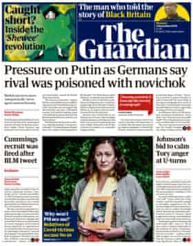 Guardian front page, Thursday 3 September 2020