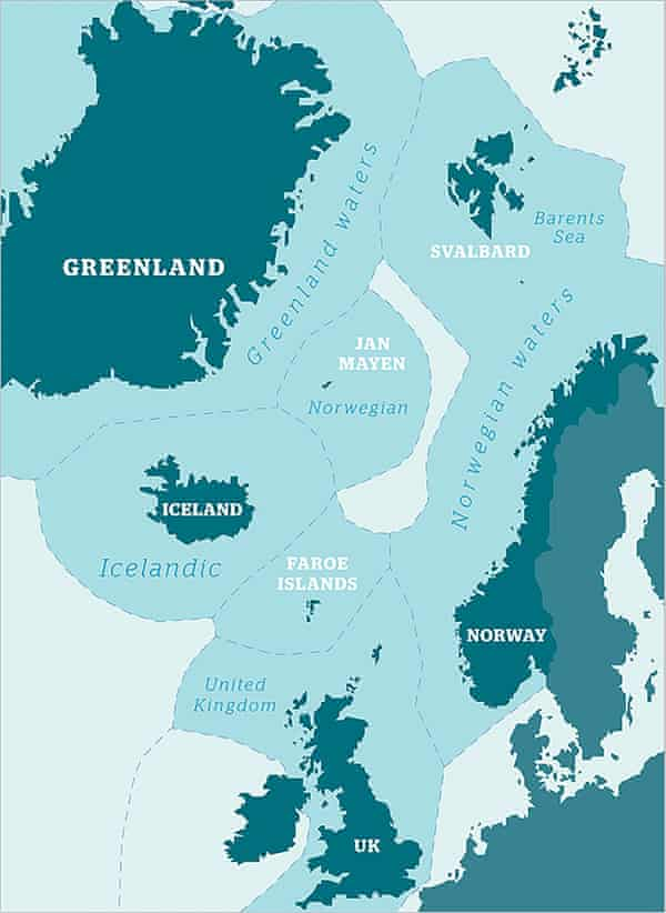 A map of northern fishing water.