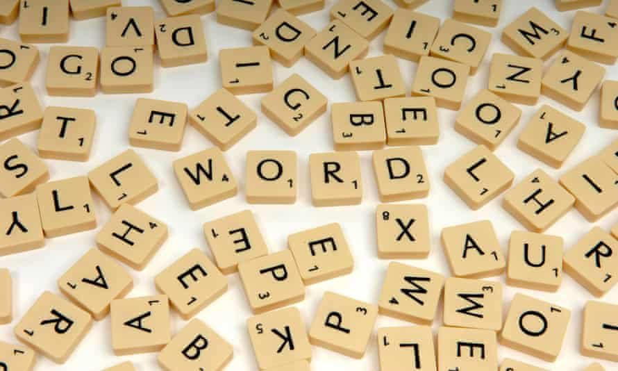 Scrabble tiles.