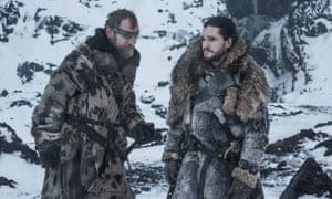 Richard Dormer as Beric Dondarrion and Kit Harington as Jon Snow in Game of Thrones