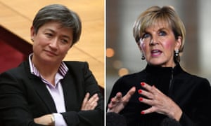Composite of Australian politicians Penny Wong and Julie Bishop