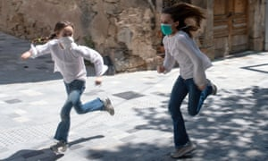 After six weeks stuck at home, Spain's children are being allowed out as the government eased one of the world's toughest coronavirus lockdowns.