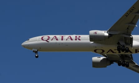A Qatar Airways plane. Women onboard a flight were forced to disembark and subjected to a strip-search and medical examination.
