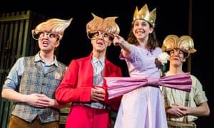 Gleeful … from left, Steve McCourt, Tom Jude, Lauren Silver and Matt Jopling in Wilde Creatures.