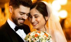 A wedding photo of Arash Pourzarabi and Pouneh Gorji. (Handout, Akhavan Studio)