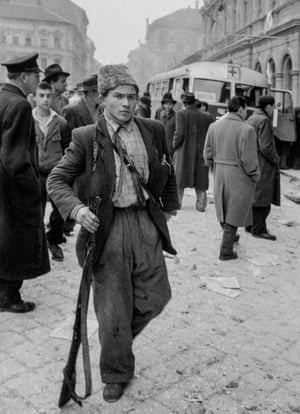 A young partisan rebel with his weapon
