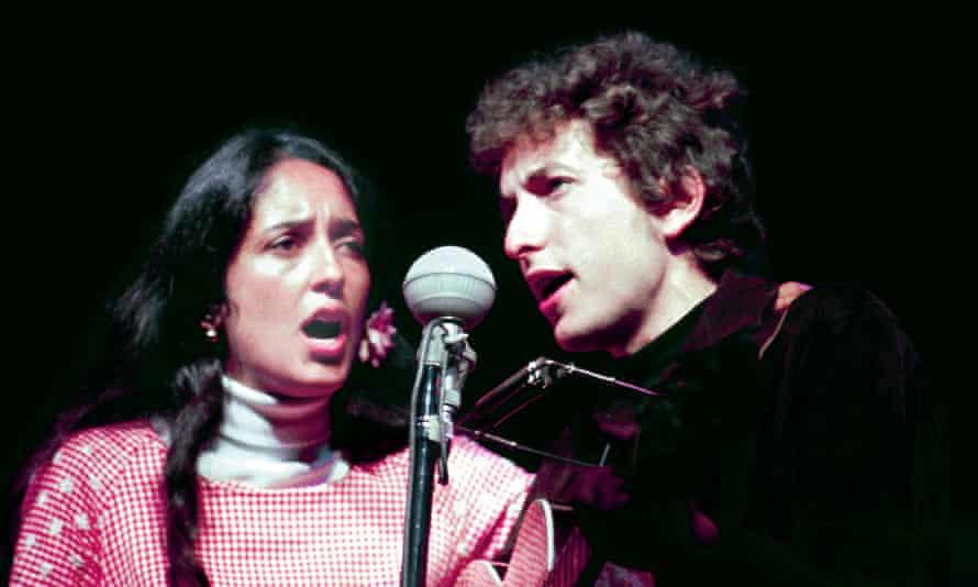 With Joan Baez at the Newport folk festival.