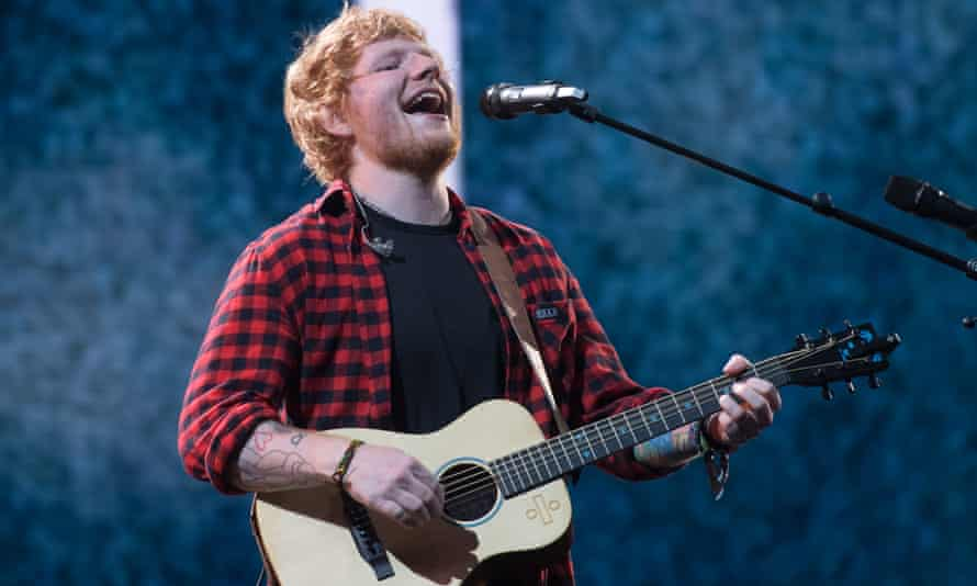 Ed Sheeran at the Glastonbury festival last year.