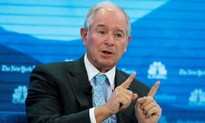 Steve Schwarzman attends the World Economic Forum annual meeting in Davos, Switzerland, on 22 January.