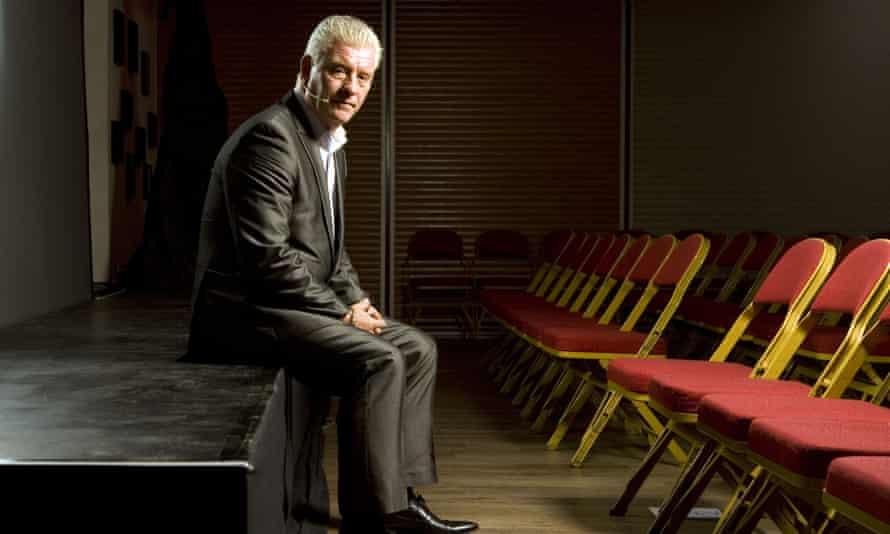 Derek Acorah preparing for a show at the Brook theatre in Soham, Cambridgeshire, 2011.