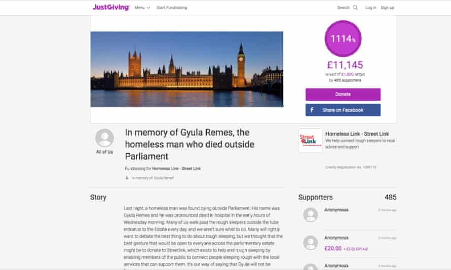 The Justgiving page in memory of Remes is still open, and has far surpassed its target.