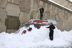 The recent severe weather form Storm Norma has brought heavy snowfall to the mountain areas and villages outside of Beirut.