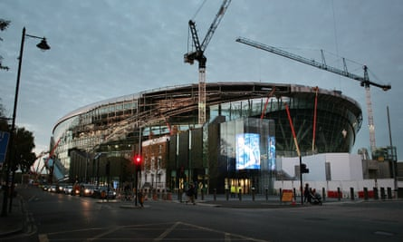 White Hart Lane under construction