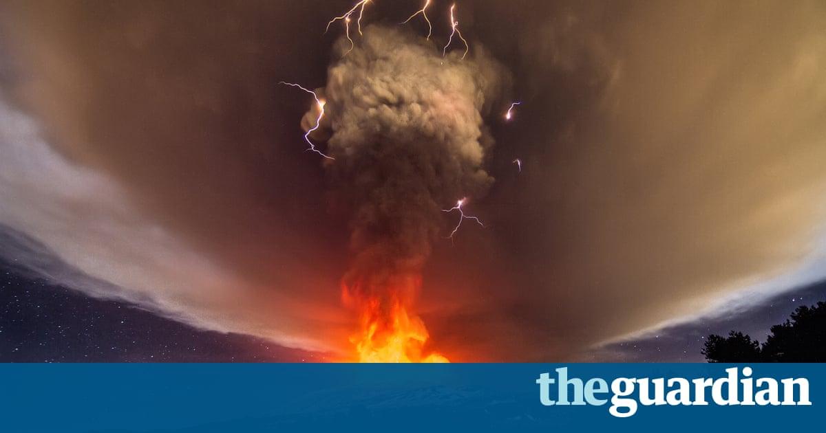 Sky Lights Up Over Sicily As Mount Etnas Voragine Crater Erupts - 17 incredible photos of volcanic lightning