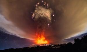 Sky lights up over Sicily as Mount Etna's Voragine crater erupts  5184