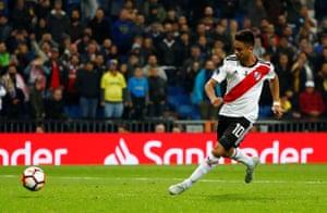 Martinez scores River's third goal.