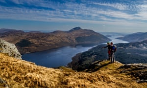 Ben Vane with views overlooking Loch Lomond.