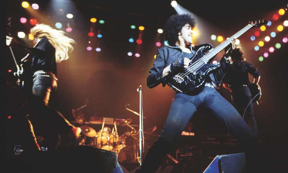 Thin Lizzy on the Thunder and Lightning tour in 1983