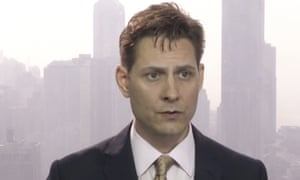 Michael Kovrig in an image from a video recorded in March.