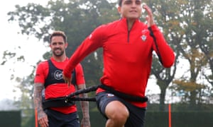 Danny Ings during a Southampton training session.