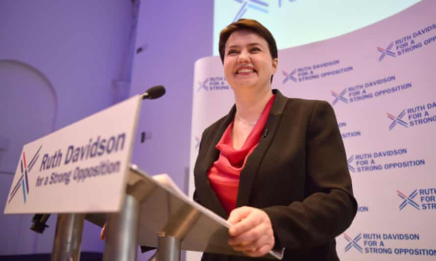 Ruth Davidson launches the Conservatives' Holyrood election manifesto in Glasgow, Scotland.